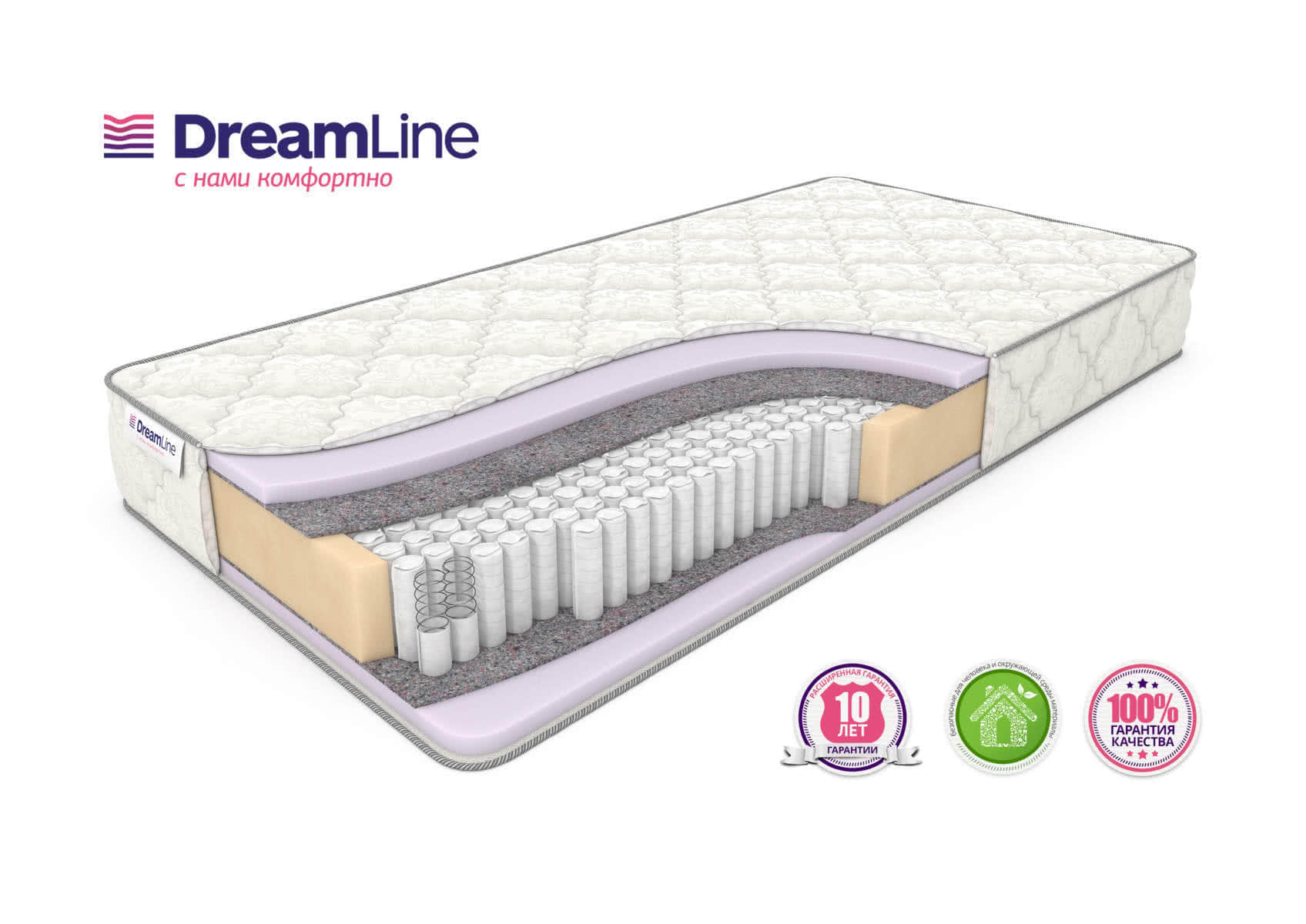 Матрас DreamLine Eco Foam S1000