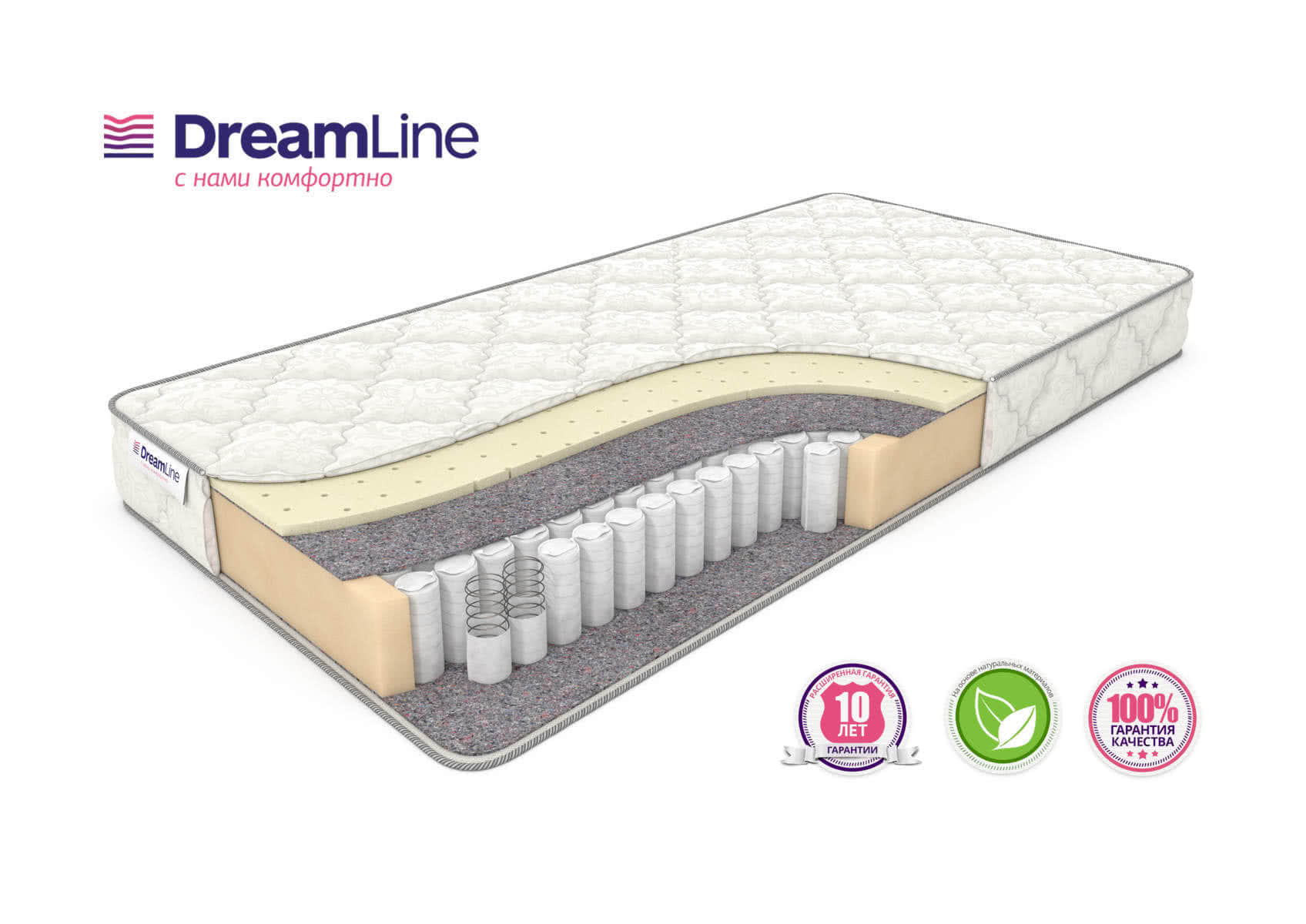 ������ DreamLine Single Sleep 2 Tfk 150�195 �� - DreamLine������� DreamLine Single<br>������������� ��������-������ ������ �� ����������� �������� TFK (256 ��/�2), � ���������� �� ������������ �������(2 ��).<br>����� �� ���������� ��������.<br>������: 18 ��.<br>��������: �� 110 ��. ������ �������� ����� ���� 2 ���: 150 x 195 ��<br><br>���: ���������<br>������� �������: ���� ������� �������<br>��������� 1 �������: ������<br>������ 1 �������: ������<br>���-�� ��� ���������: 0<br>��� ������: �����������<br>������ �� ��.�: 256<br>������������ ��� �� �������� ����� ��: 110<br>������ ��: 18<br>��� �����: �������<br>������ �� �����: ���<br>����/����: ���<br>��������� ��������: ���<br>�������: ���<br>������: ������ DreamLine Single Sleep 2 Tfk 150�195 �� �������� ����� ���� 2 ���<br>������ ��: 150<br>����� ��: 195<br>�������: Single