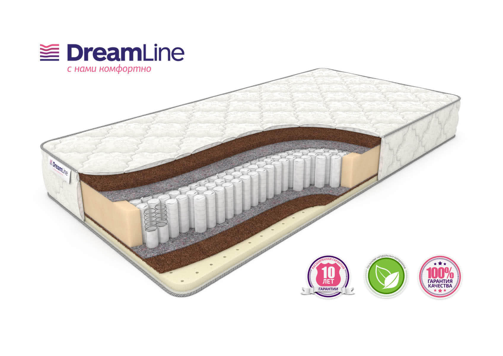 Матрас DreamLine SleepDream Hard S1000