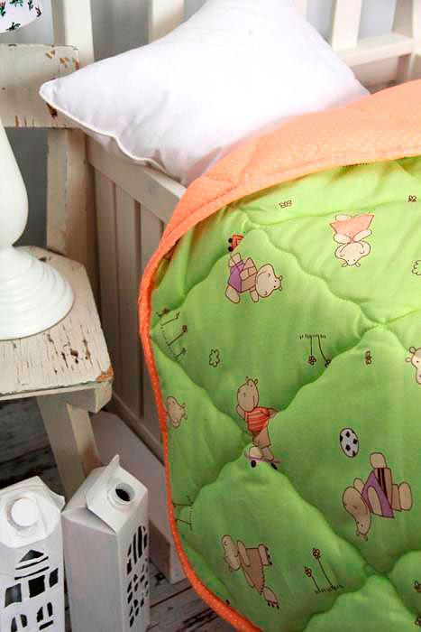 Одеяло Altro Kids Тоша и Моша зеленое - Петербург