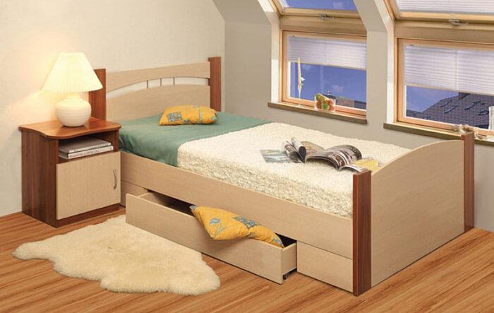 1-спальная кровать (Олимп-Мебель)