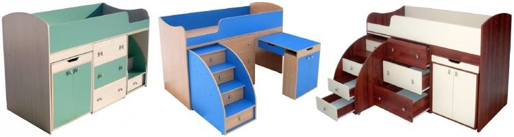 Кровать-чердак Малыш (ЯРОФФ)