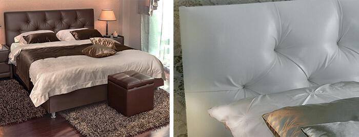 Мягкое изголовье кровати Аскона Marlena