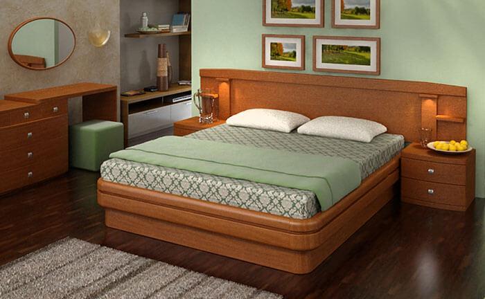 Кровать Эва с изголовьем А