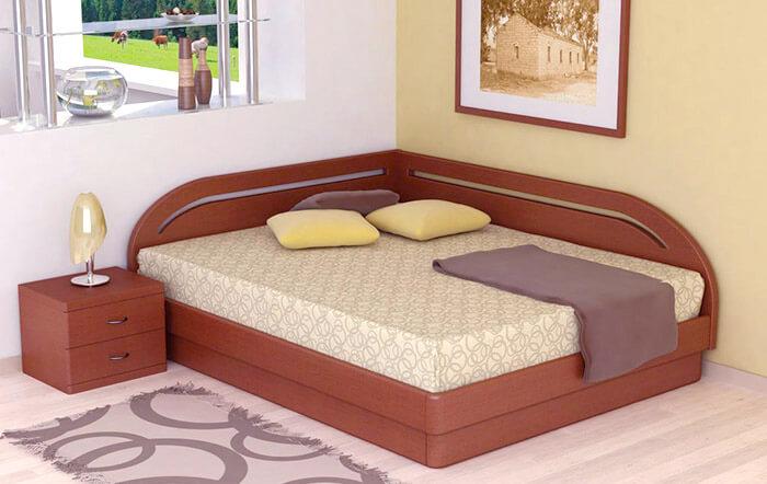 Кровать угловая ЮМА (Торис)