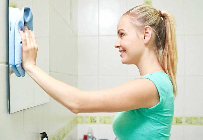 Как отмыть зеркало