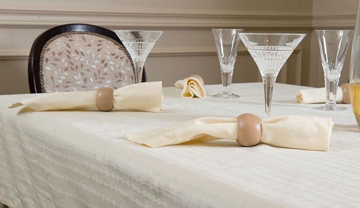 Салфетки с кольцами для сервировки