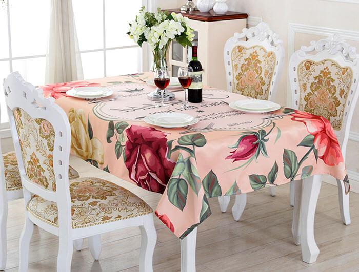 Размер скатерти на стол: как выбрать?
