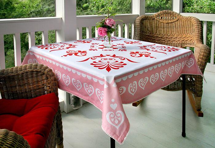 Размер квадратной скатерти для стола