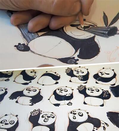 Эскизы мультфильма «Кунг-фу Панда 2»