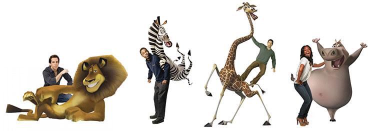Озвучившие Мадагаскар актеры