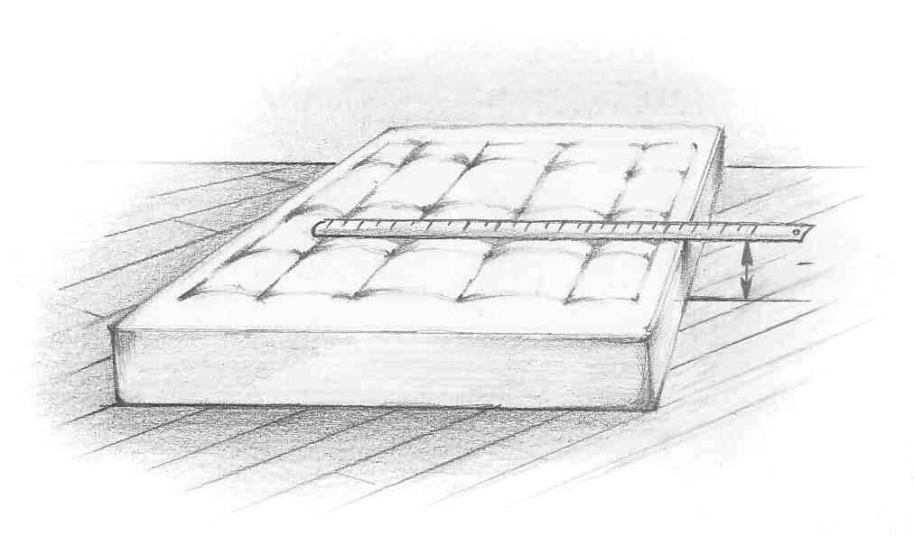 Как измерить высоту матраса