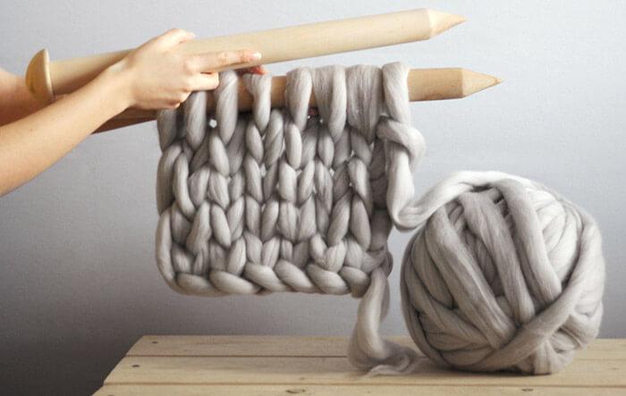 Спицы для вязания пледов крупной вязки