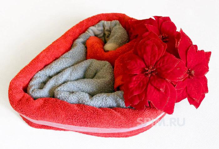 Как упаковать полотенце в подарок Советы 13