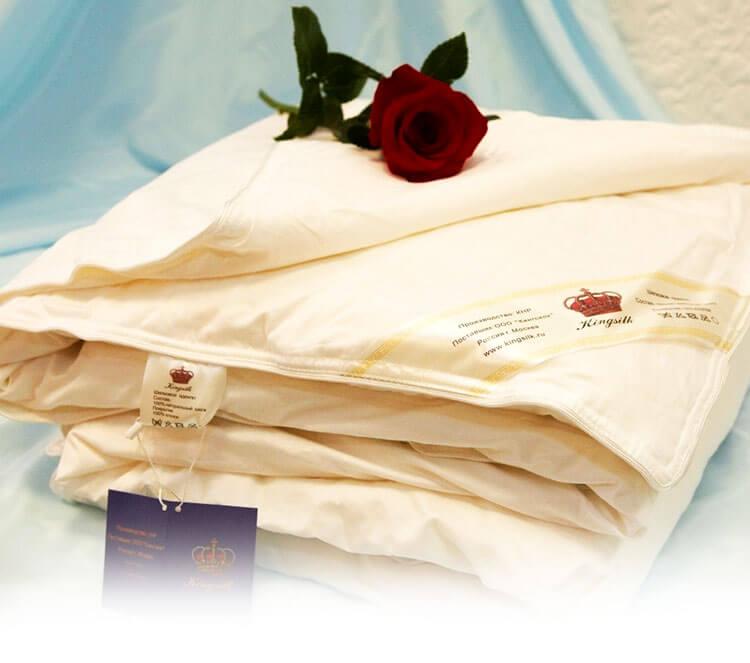 Одеяла и подушки из шёлка КингСилк