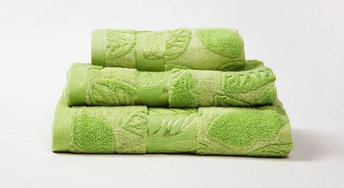 Махровые полотенца с жаккардовым узором