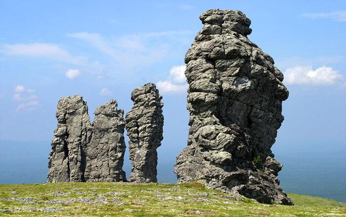 12 самых красивых мест России: Столбы выветривания, Коми
