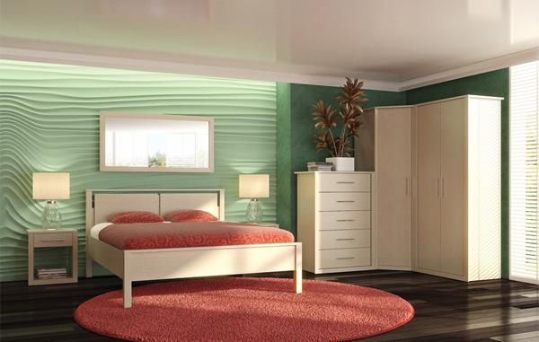 Набор мебели для спальни №1 Фран Силуэт