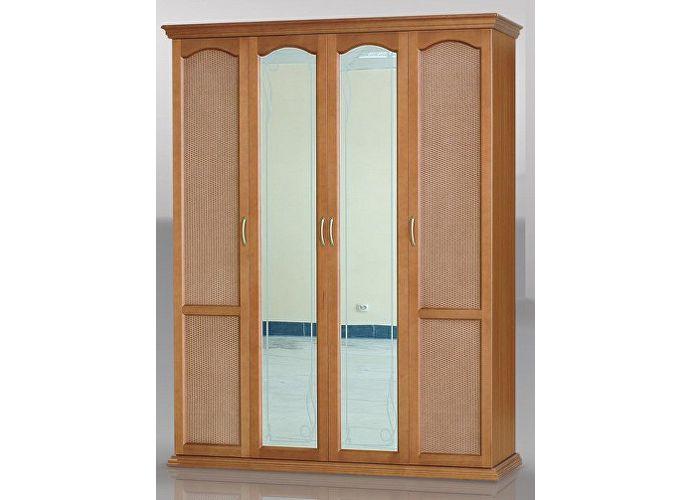 Шкаф распашной (ротанг) 4 створки - купить за 35700.00 руб. .