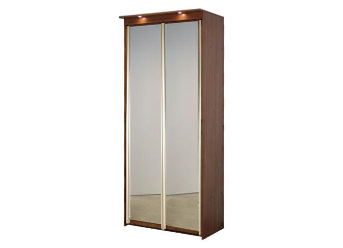 Шкаф-купе элит 2х дверный с 2 зеркальными дверями.