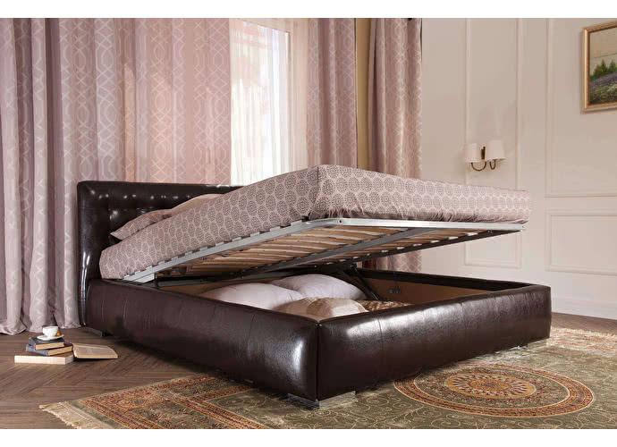 9 советов как улучшить вашу спальню: кровать с ящиком для белья с подъёмным механизмом