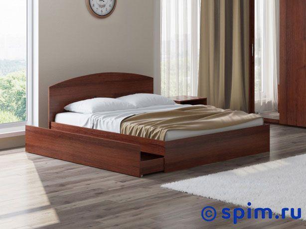 Кровать Этюд Плюс Орматек 180х195 смКровати Орматек<br>Только стандартные размеры. Кровать из ламинированного Дсп с ящиком для постельных принадлежностей. В комплекте с решеткой. Размер Etud Plus  Ormatek двуспальный: 180 x 195 см<br><br>Ширина см: 180<br>Длина см: 195