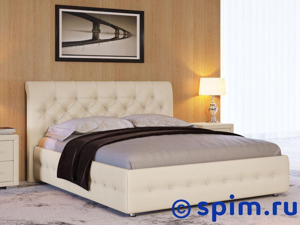 Кровать Life 4 200х200 смКровати Райтон<br>Материал: каркас из Дсп, обивка из экокожи класса Люкс. Основание: встроенное с березовыми ламелями. Размер Лайф 4 2-спальный: 200 x 200 см<br><br>Ширина см: 200<br>Длина см: 200