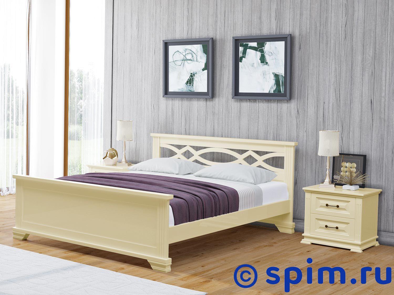 Кровать Райтон Лира береза (белый, слоновая кость) 160х200 смКровати Райтон<br>Материал: береза. Основание встроенное - ламели.  Размер Raiton Lira двуспальный: 160 x 200 см<br><br>Ширина см: 160<br>Длина см: 200