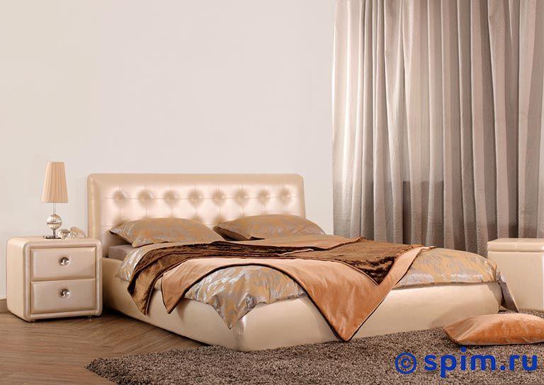 Кровать Альта (промо) 140х200 смКровати Perrino<br>Материал: Обивка - экокожа. Ножки - металл. Размер Alta Люкс двуспальный: 140 x 200 см<br><br>Длина мм: 2230<br>Высота мм: 920