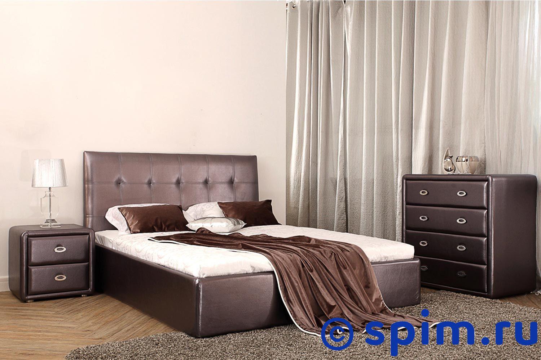 Кровать Perrino Ника (промо) 160х200 смИнтерьерные кровати Perrino<br>Материал: обивка - экокожа, съемные чехлы на царгах кровати. Размер Перрино Nika двуспальный: 160 x 200 см<br><br>Длина мм: 2200<br>Высота мм: 1090