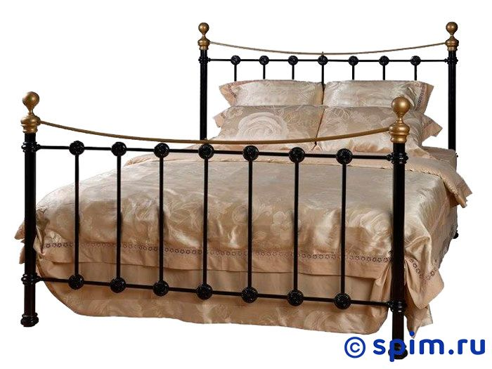 Кровать Фёрст (2 спинки) Dream Master 160х195 смМеталлические кровати Dream Master<br>Материал каркаса: металл (сталь с элементами литья). Размер First  Дрим Мастер двуспальный: 160 x 195 см<br><br>Ширина см: 160<br>Длина см: 195