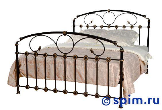 Кровать Розалин (2 спинки) Dream Master 180х195 смМеталлические кровати Dream Master<br>Материал каркаса: металл (сталь). Размер Rozalin Дрим Мастер двуспальный: 180 x 195 см<br><br>Ширина см: 180<br>Длина см: 195