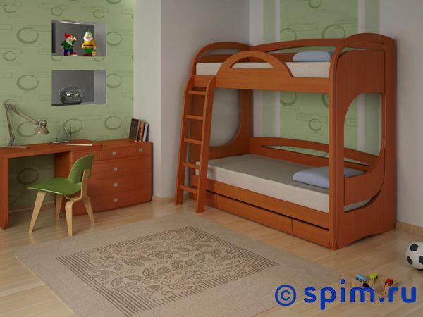 Кровать Миа 2 Торис 90х190 смДвухъярусные кровати Миа<br>Материал: массив, шпон бука. Кровать с выдвижным ящиком с доводчиками . Размер Mia 2 Toris односпальный: 90 x 190 см<br><br>Ширина см: 90<br>Длина см: 190
