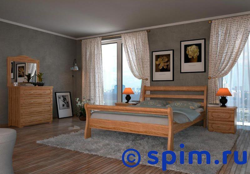 Кровать DreamLine Милан 200х195 смКровати DreamLine<br>Материал: каркас из массива бука, основание с гнутыми березовыми ламелями. Спинка и изножье - высокие. Размеры спального места (ширина х длина), см: 90х190/195/200, 120x190/195/200, 140х190/195/200, 150х190/195/200, 160х190/195/200, 180х190/195/200, 200х190/195/200.  *Матрас и тумбы, комод и зеркало в стоимость кровати не входят. Размер ДримЛайн Milan 2-спальный: 200 x 195 см<br><br>Ширина см: 200<br>Длина см: 195