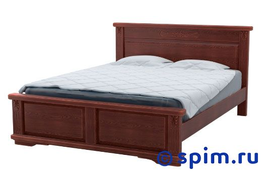 Кровать DreamLine Палермо 1 150х190 смКровати DreamLine<br>Материал: каркас из массива бука, основание с гнутыми березовыми ламелями. Размеры спального места (ширина х длина), см: 90х190/195/200, 120x190/195/200, 140х190/195/200, 160х190/195/200, 180х190/195/200, 200х190/195/200.  *Матрас и тумбы в стоимость кровати не входят. Размер ДримЛайн Palermo 1 двуспальный: 150 x 190 см<br><br>Ширина см: 150<br>Длина см: 190