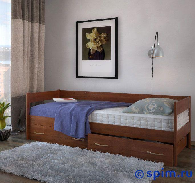 Кровать DreamLine Тахта с выкатными ящиками 120х200 смКровати DreamLine<br>Материал: каркас из массива бука, основание с гнутыми березовыми ламелями. Размеры спального места (ширина х длина), см: 70х190/195/200, 80x190/195/200, 90х190/195/200, 120х190/195/200.  *Матрас и туалетный стол в стоимость кровати не входят. Размер ДримЛайн Tahta полутораспальный: 120 x 200 см<br><br>Ширина см: 120<br>Длина см: 200