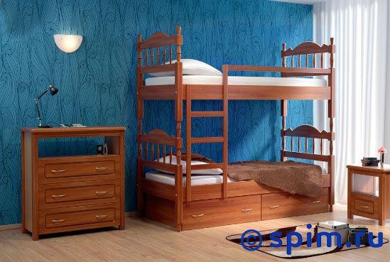 Кровать DreamLine Юниор 2х ярусный 80х200 смКровати DreamLine<br>Материал: каркас из массива бука, основание с гнутыми березовыми ламелями. Размеры спального места (ширина х длина), см: 70х190/195/200, 80x190/195/200, 90х190/195/200.  *Матрас в стоимость кровати не входит. Размер ДримЛайн Unior 2 односпальный: 80 x 200 см<br><br>Ширина см: 80<br>Длина см: 200