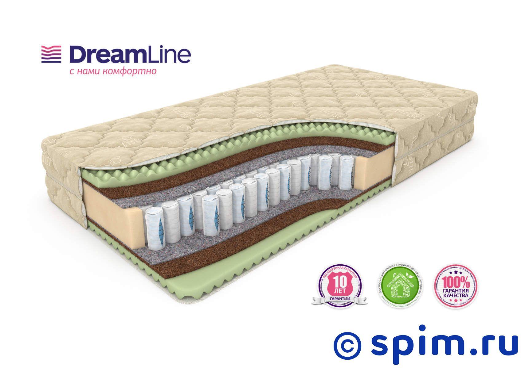 Матрас DreamLine Space Massage Ds 200х200 смМатрасы DreamLine Massage<br>Матрас средней жесткости на независимых пружинах Дуэт (250+108 шт/м2), с прослойками ячеистой пены и Бикокоса. Несъемный чехол из трикотажа. Высота: 24 см. Нагрузка: до 130 кг. Размер ДримЛайн Спейс Массаж Дс 2-спальный: 200 x 200 см<br><br>Ширина см: 200<br>Длина см: 200<br>Линейка: Massage