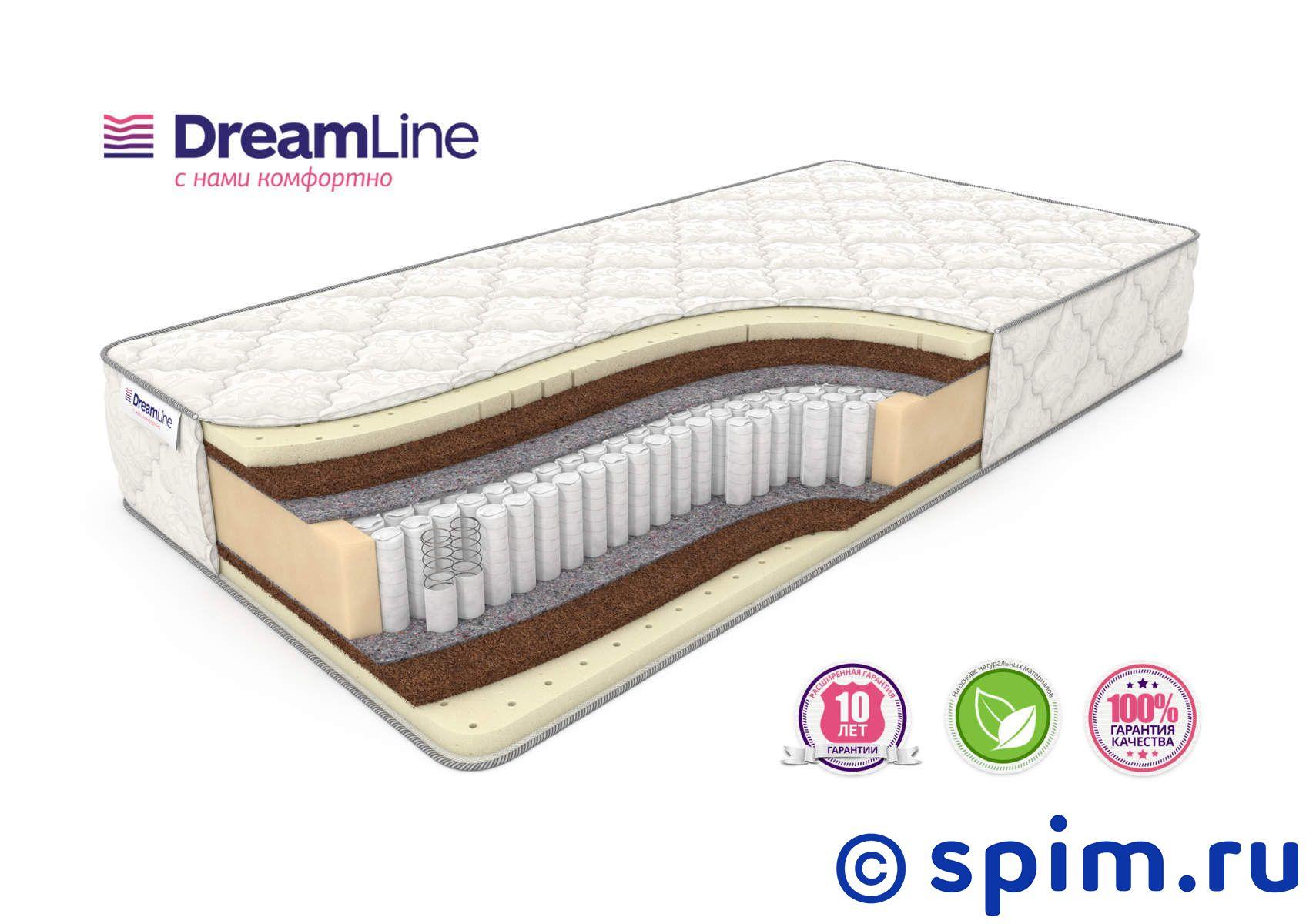 Матрас DreamLine Prime Medium S1000 180х195 смМатрасы DreamLine Prime<br>Матрас средней жесткости на независимых пружинах Multipoket S1000 (500 шт/м2), с прослойками натурального латекса и кокоса. Несъемный чехол из трикотажа. Высота: 25 см. Нагрузка: до 140 кг. Размер ДримЛайн Приме Медиум С1000 двуспальный: 180 x 195 см<br><br>Ширина см: 180<br>Длина см: 195<br>Линейка: Prime