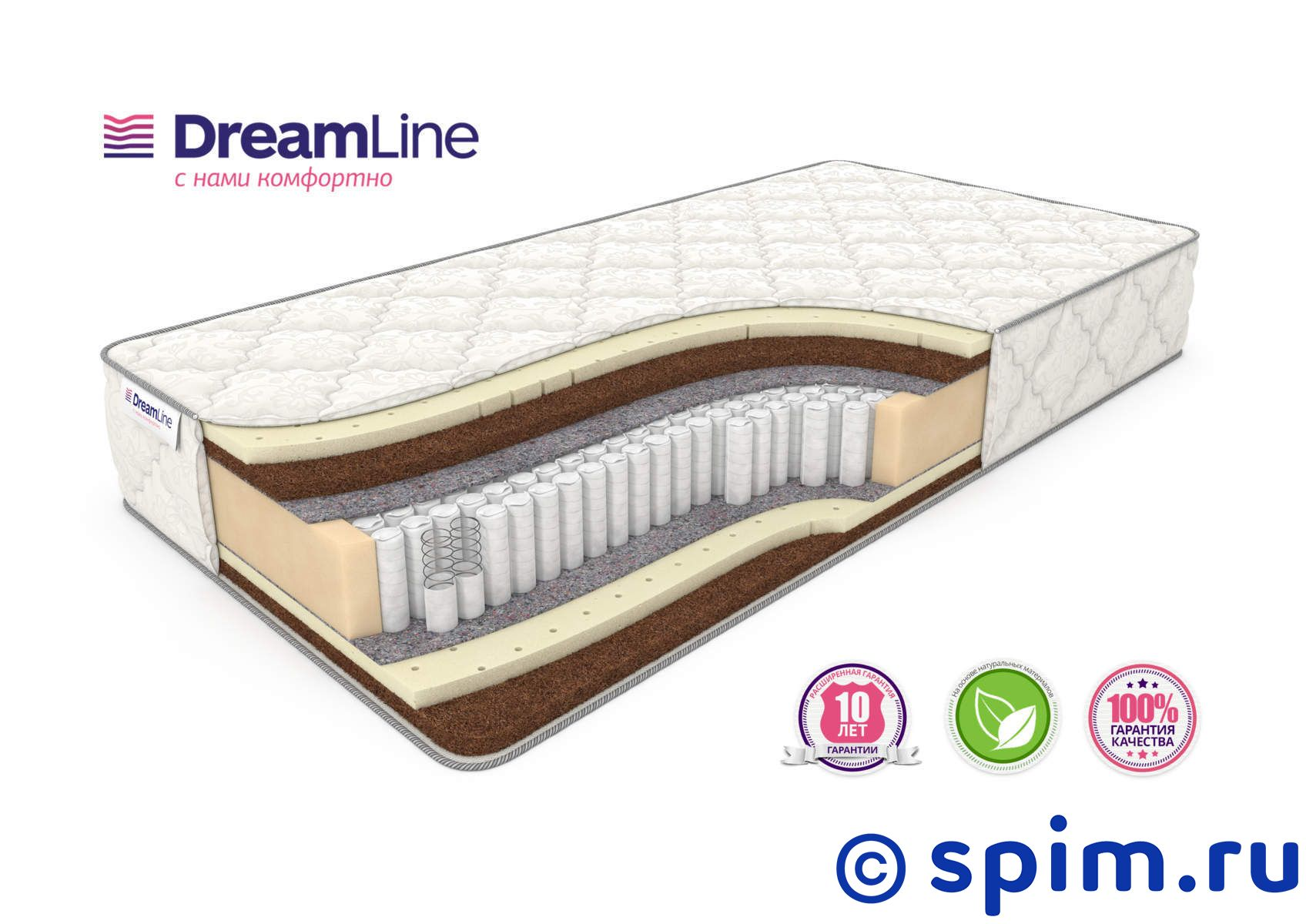 Матрас DreamLine Prime Mix S1000 140х190 см