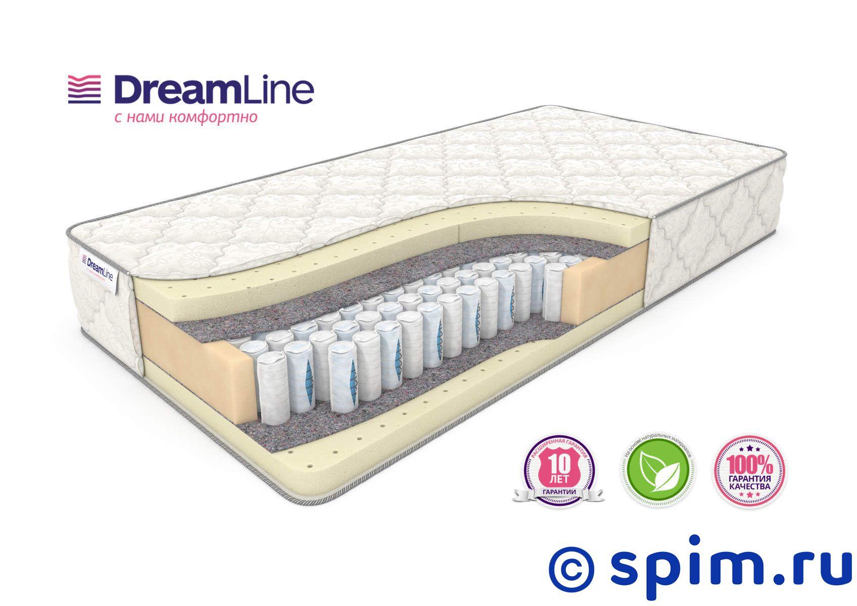 Матрас DreamLine Prime Soft Ds 140х200 смМатрасы DreamLine Prime<br>Мягкий матрас на независимых пружинах Дуэт (250+108 шт/м2), с прослойками натурального латекса. Несъемный чехол из трикотажа. Высота: 27 см. Нагрузка: до 150 кг. Размер ДримЛайн Приме Софт Дс двуспальный: 140 x 200 см<br><br>Ширина см: 140<br>Длина см: 200<br>Линейка: Prime