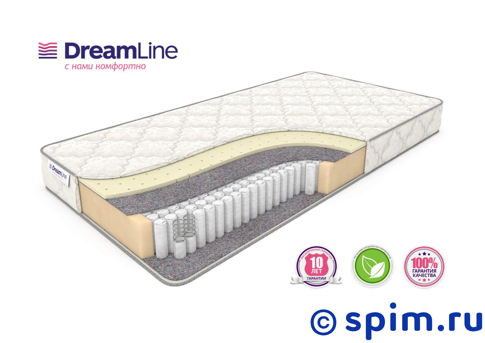 ������ DreamLine Single Sleep 2 S1000 90�200 �� - DreamLine�������/DreamLine/������� DreamLine Single<br>������������� ��������-������ ������ �� ����������� �������� Multipoket S1000 (500 ��/�2), � ���������� �� ������������ �������(2 ��).<br>��������� ����� �� ���������.<br>������: 19 ��.<br>��������: �� 120 ��. ������ �������� ����� ���� 2 �1000: 90 x 200 ��<br><br>���: ���������<br>������� �������: ���� ������� �������<br>��������� 1 �������: ������<br>������ 1 �������: ������<br>���-�� ��� ���������: 0<br>��� ������: �����������<br>������ �� ��.�: 500<br>������������ ��� �� �������� ����� ��: 120<br>������ ��: 18<br>��� �����: ��������<br>������ �� �����: ���<br>����/����: ���<br>��������� ��������: ���<br>�������: ���<br>������ �������������: ������<br>������: ������ DreamLine Single Sleep 2 S1000 90�200 �� �������� ����� ���� 2 �1000<br>������ ��: 90<br>����� ��: 200<br>�������: Single