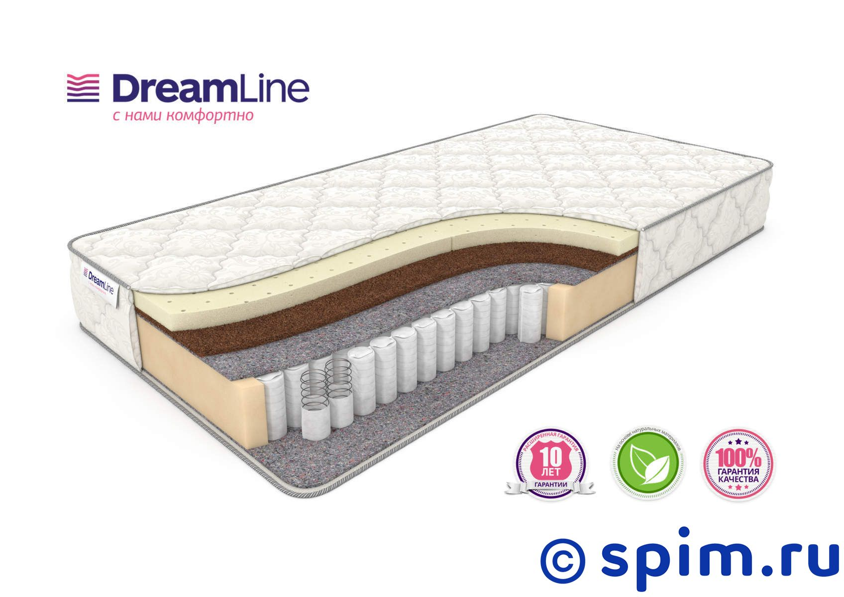 ������ DreamLine Single SleepDream Medium Tfk 80�190 �� - DreamLine�������/DreamLine/������� DreamLine Single<br>������������� ������ ������� ��������� �� ����������� �������� TFK (256 ��/�2), � ����������� �� ������ � ������������ �������.<br>����� �� ���������� ��������.<br>������: 20 ��.<br>��������: �� 110 ��. ������ �������� ����� �������� ������ ���: 80 x 190 ��<br><br>���: ���������<br>������� �������: ���� ������� �������<br>��������� 1 �������: �������<br>������ 1 �������: �����<br>������ 1 �������: ������<br>���-�� ��� ���������: 0<br>��� ������: �����������<br>������ �� ��.�: 256<br>������������ ��� �� �������� ����� ��: 110<br>������ ��: 20<br>��� �����: �������<br>������ �� �����: ���<br>����/����: ���<br>��������� ��������: ���<br>�������: ���<br>������ �������������: ������<br>������: ������ DreamLine Single SleepDream Medium Tfk 80�190 �� �������� ����� �������� ������ ���<br>������ ��: 80<br>����� ��: 190<br>�������: Single