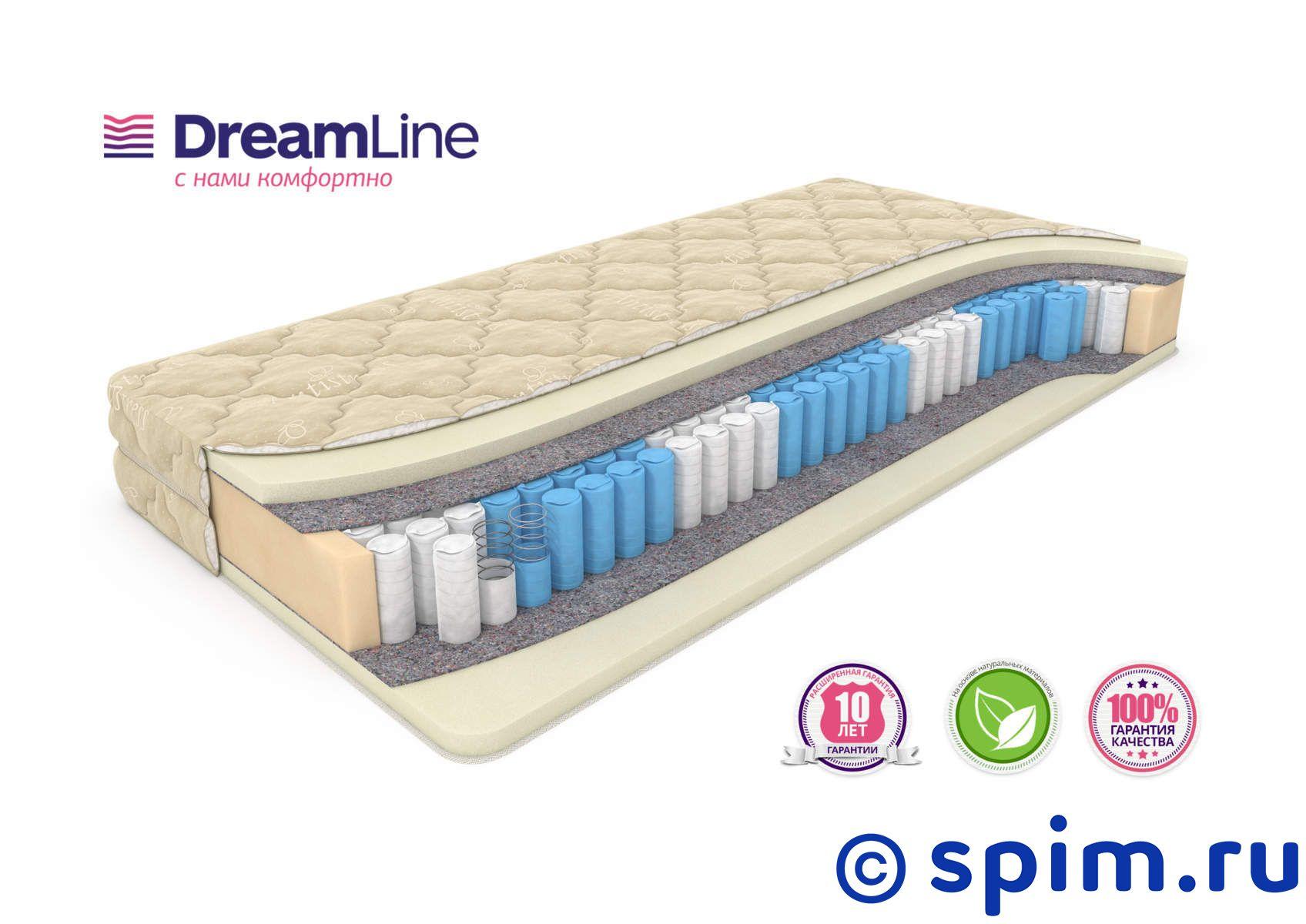 Матрас DreamLine Memory Latex Smart Zone 150х200 смМатрасы DreamLine Smart Zone<br>Мягкий матрас на 5-тизонном блоке Sz (250 шт/м2), с прослойками ячеистого Memory Latex. Несъемный чехол из трикотажа. Высота: 23 см. Нагрузка: до 150 кг. Размер ДримЛайн Мемори Латекс Смарт Зоне двуспальный: 150 x 200 см<br><br>Ширина см: 150<br>Длина см: 200<br>Линейка: Smart
