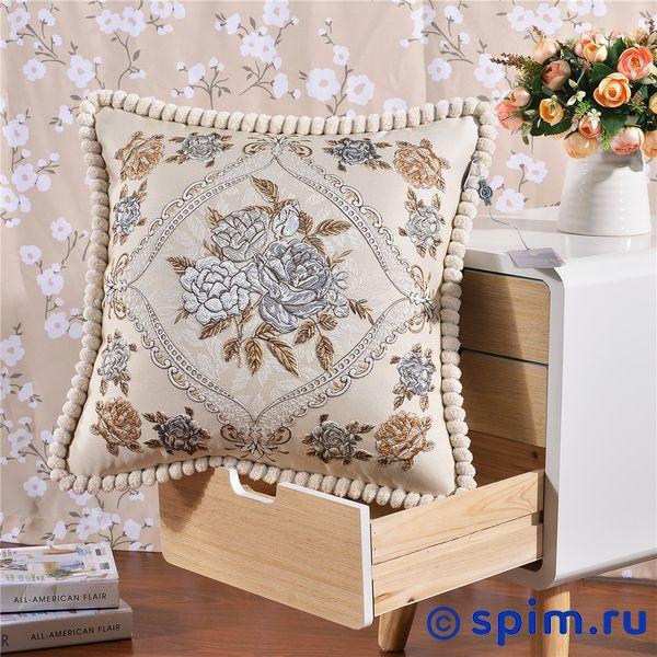 Декоративная наволочка Kazanov.a. Гобелен Фиори, бежевый