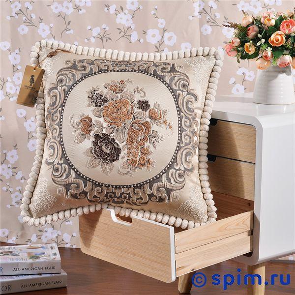 Декоративная наволочка Kazanov.a. Гобелен Лоренцо, молочный