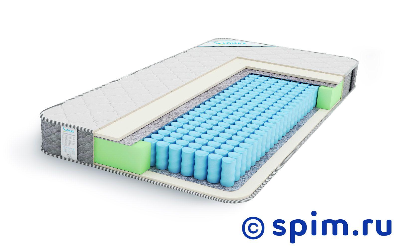Матрас Lonax Swift Plus 120х200 смМатрасы Lonax Light<br>Модель Lonax Swift Plus – недорогой мягкий пружинный матрас, выполненный в элегантном современном дизайне. Уровень жесткости: низкий. Основа: блок независимых пружин TFK Light (210 пружин/м2). Наполнители: пена Foam - 1 см, термовойлок, ппу по периметру. Чехол: трикотаж, простеганный на синтепоне, бурлет - тик. Максимальный вес на спальное место, кг: 90. Высота, см: 17. Размер Лонакс Свифт Плюс полутораспальный: 120 x 200 см<br><br>Ширина см: 120<br>Длина см: 200