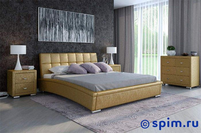 Кровать Орматек Corso-1 цвета люкс 160х190 смКровати Орматек<br>Материал: рама - Мдф, обивка – экокожа класса Люкс, ножки – хром. Размер Корсо-1 Ormatek двуспальный: 160 x 190 см<br><br>Ширина см: 160<br>Длина см: 190
