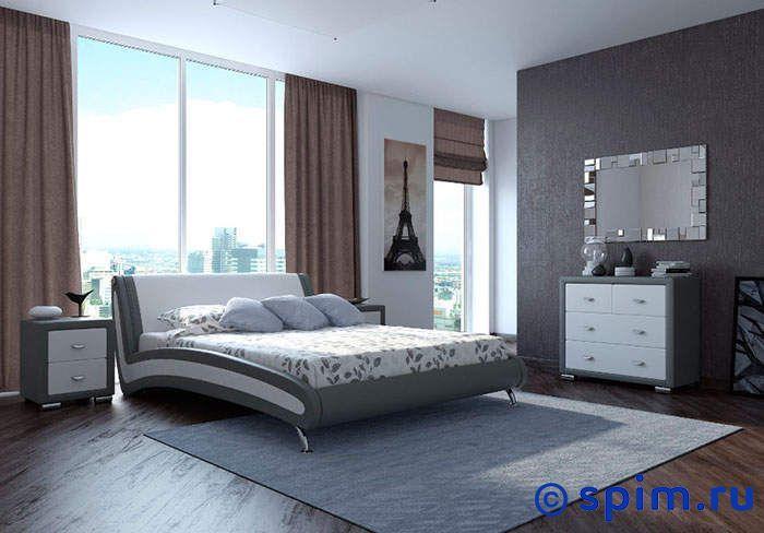 Кровать Орматек Corso-2 (серый, зеленый) 200х200 смКровати Орматек<br>Материал: рама - Мдф, обивка – экокожа класса Люкс, ножки – хром. Размер Корсо-2 Ormatek 2-спальный: 200 x 200 см<br><br>Ширина см: 200<br>Длина см: 200