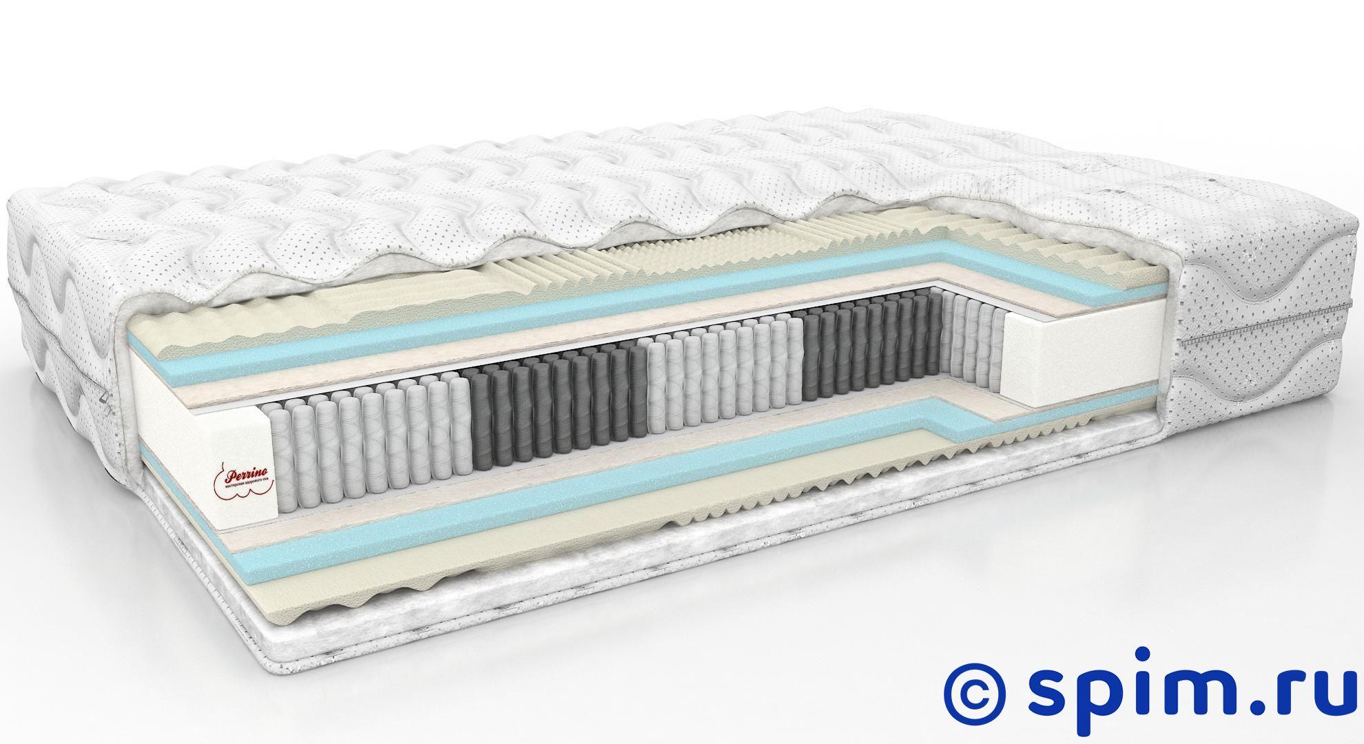 Матрас Perrino Active Harmony 180х200 смПружинные матрасы Perrino Active<br>Цена действительна при покупке наматрасника Perrino Ronda или анатомической подушки Perrino. При покупке матраса без перечисленных аксессуаров а составит 50%.  Матрас средней жесткости на основе блока Touch1000 (500 пружин на м2), с прослойками 7-зонного натурального латекса и пены с угольным фильтром. Съемный чехол из трикотажа. Высота, см: 26. Размер Перрино Актив Гармони двуспальный: 180 x 200 см<br><br>Ширина см: 180<br>Длина см: 200<br>Линейка: Active1